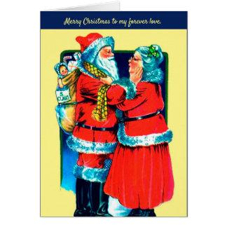 Carte Père Noël et Mme Claus Card pour votre amour