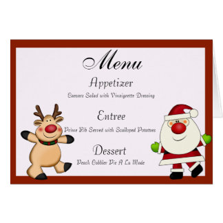 Carte Père Noël et vacances de Noël de renne