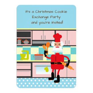 Carte Père Noël fait des biscuits cuire au four de Noël