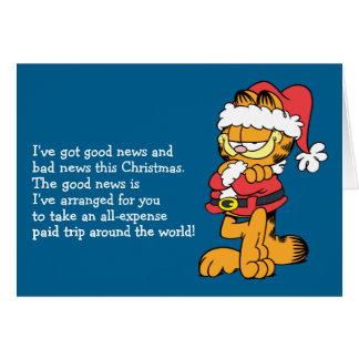 Carte Père Noël Garfield