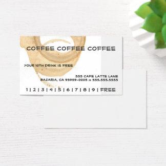 Cartes De Visite Carte perforée de café de café de café