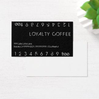 Cartes De Visite Carte perforée de double de café de fidélité