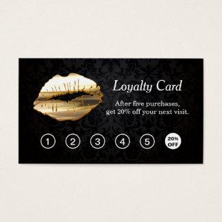 carte perforée de fidélité de salon de maquillage