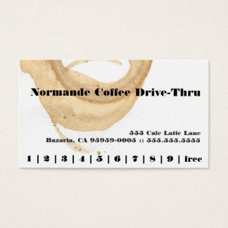 Carte perforée de fidélité de tache de café