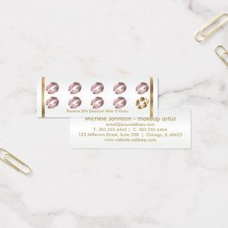 Carte perforée de fidélité - lèvres poussiéreuses