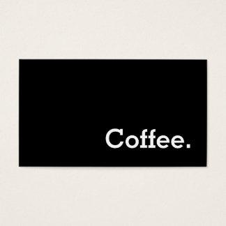Carte perforée foncée de café de fidélité de mot cartes de visite