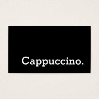 Carte perforée foncée de cappuccino de fidélité de