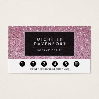 Carte perforée rose classique de fidélité de salon