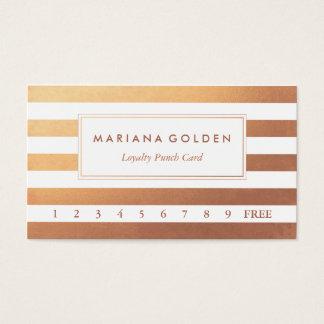 Carte perforée rose d'affaires de fidélité d'or