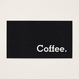 Carte perforée simple de café de fidélité de noir