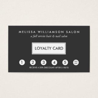 Carte perforée simple II de fidélité de client