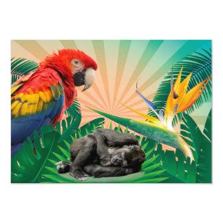 Carte Perroquet de jungle de gorille