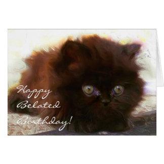 Carte persane de chaton de joyeux anniversaire
