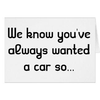 Carte personnalisable de polisson de voiture