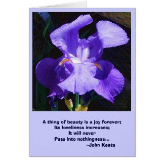 Carte personnalisable : Iris avec inspiré
