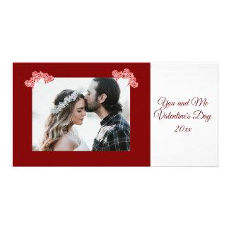 Carte personnalisée de coeurs de Saint-Valentin de