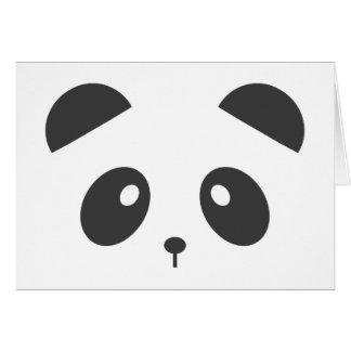 Carte personnalisée de panda