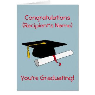 Carte personnalisée d'obtention du diplôme
