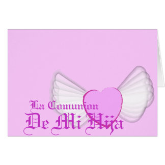 """Carte Personnaliser de """"Comunion"""" de ma fille -"""