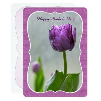"""Carte Personnalisez : Tulipes pourpres """"du jour de mère"""