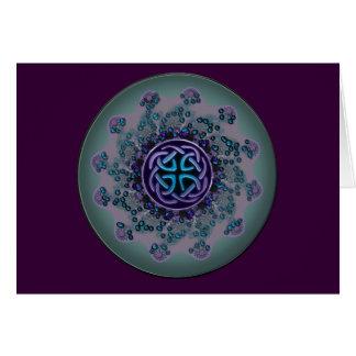 Carte personnelle de message de bijou de mandala