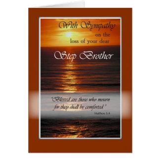 Carte Perte de sympathie de frère, coucher du soleil