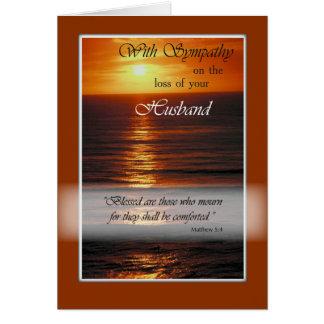 Carte Perte de sympathie de mari, coucher du soleil