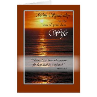 Carte Perte de sympathie d'épouse, coucher du soleil