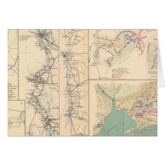Carte Pétersbourg entoure Bentonville Carolinas