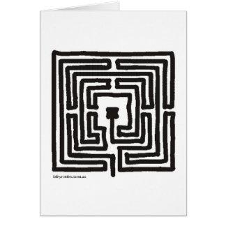 Carte petit carré médiéval de labyrinthe