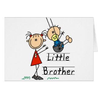 Carte Petit frère avec des T-shirts de grande soeur