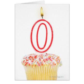 Carte Petit gâteau avec une bougie numérotée
