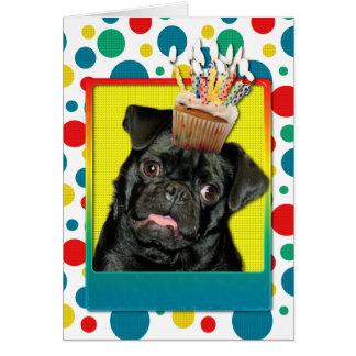 Carte Petit gâteau d'anniversaire - carlin - Ruffy
