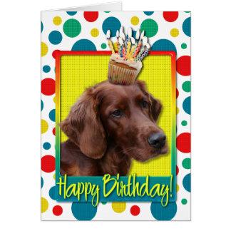 Carte Petit gâteau d'anniversaire - poseur irlandais