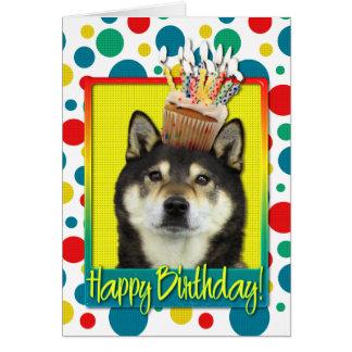 Carte Petit gâteau d'anniversaire - Shiba Inu - Yasha