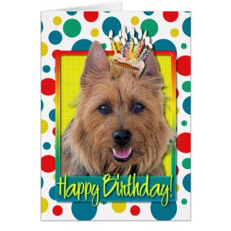 Carte Petit gâteau d'anniversaire - Terrier australien