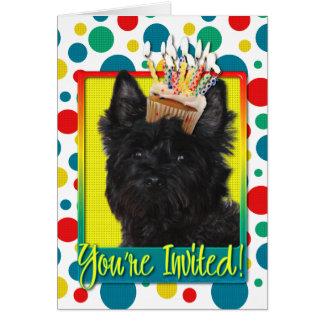 Carte Petit gâteau d'invitation - cairn Terrier - Rosco