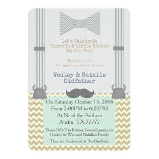 Carte Petit Monsieur BabyShower Invite