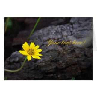 Carte Petite fleur jaune
