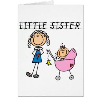 Carte Petite soeur avec de grands T-shirts de SIS