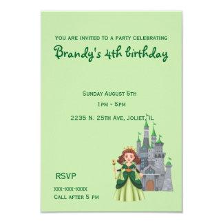 Carte Petits princesse et château dans l'anniversaire