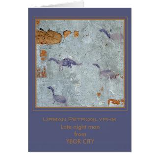 """Carte pétroglyphes """"d'homme de fin de nuit"""""""