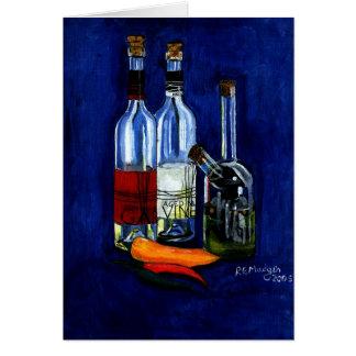 Carte Pétrole, vinaigre, et piments