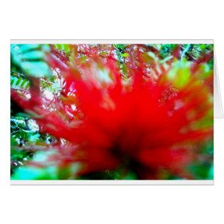 Carte Peu de fleur rouge