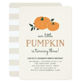 Carte Peu d'invitation de fête d'anniversaire d'automne
