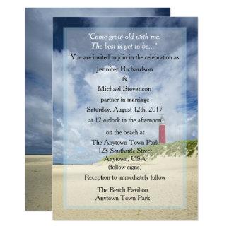 Carte Phare au mariage décontracté de plage