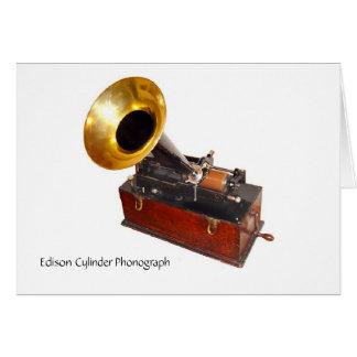 Carte Phonographe de cylindre d'Edison