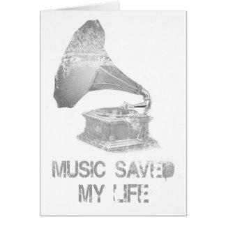 Carte phonographe - la musique a sauvé ma vie