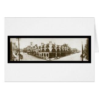 Carte Photo 1908 de restaurant de Spokane WA