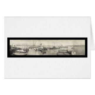 Carte Photo 1911 d'USS Maine La Havane Cuba